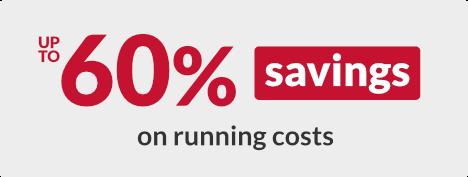 Up to 60% savings