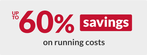 Up to 60% savings