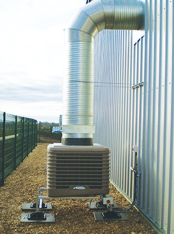 Fieldings Dairy evaporative cooling